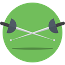 foil, Olympic Games, saber, weapons, Fencing, swords, sports DarkSeaGreen icon