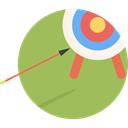 Target, archer, weapons, Arrow, Archery, sport, sports DarkKhaki icon