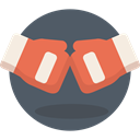 punch, boxing, fight, sports, Athlete, olympic, gloves DimGray icon