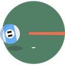 sports, pool, Billiard, Eight, objects, stick, entertainment, Ball, Eight Ball DimGray icon