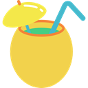 Alcohol, straw, cocktail, food, Alcoholic Drinks, Party Time SandyBrown icon