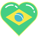 flag, Country, Heart, national, brazil, carnival, party MediumSeaGreen icon