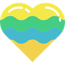 Favorite, loving, shapes, romance, romantic, Heart MediumSeaGreen icon