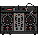 Dj, Workspace, musical, utensils, profession DarkSlateGray icon
