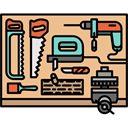 Workspace, carpenter, desk, profession, Tools And Utensils BurlyWood icon