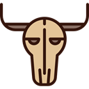 skull, decoration, western, cow, decorative Black icon