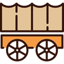 wheels, old, western, Cart, Carriage, transport BurlyWood icon