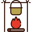 Flame, Bonfire, nature, western, campfire, Burn, Camping, Tools And Utensils, hot Black icon