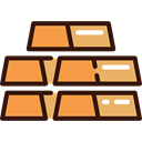 western, Gold Ingots, Ingot, Bank, gold SandyBrown icon