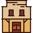buildings, Home, western, house, Building, Architecture BurlyWood icon