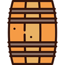 food, Alcoholic Drinks, Bar, beer, Alcohol, barrel, western SandyBrown icon