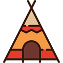 Tent, Native American, western, indian, Tepee, Indian Tent Black icon
