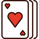 Cards, poker, Casino, Hearts, western, Playing Cards Black icon