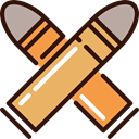 weapons, Bullets, Munition, bullet, western, Ammo, revolver SandyBrown icon