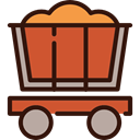 western, Working, mine, transport, wagon, Cart Chocolate icon