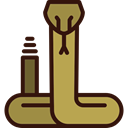 Animal, dangerous, venom, poison, Animals, western, cobra, snake Black icon