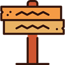 wood, Pointer, sign, western, signs, wooden, Direction SandyBrown icon