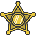 security, secure, Protection, symbol, Sheriff, signs DarkSlateGray icon