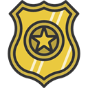 security, police, Badge, shield, signs DarkSlateGray icon