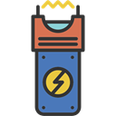 weapon, Electroshock Weapon, Electroshock, Electric, weapons Black icon