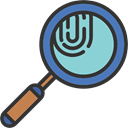 magnifying glass, Tools And Utensils, investigation, Loupe, Fingerprints, detective DarkSlateGray icon