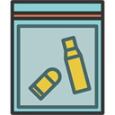 Bag, weapons, Bullets, investigation, evidence, shells LightSteelBlue icon