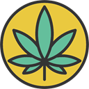 Drug, weed, Leaf, marijuana, Cannabis, nature, Botanical Goldenrod icon