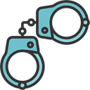 Arrest, Prision, Policeman, jail, Tools And Utensils, Handcuffs Black icon