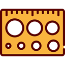 Measurement, scales, ruler, Tools And Utensils SandyBrown icon