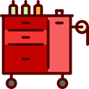 tattoo, workplace, Ink, Workstation, storage Maroon icon