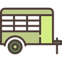 vehicle, Camping, Animals, Trailer, transport DarkSlateGray icon