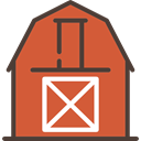 real estate, buildings, gardening, Farm, Barn Chocolate icon