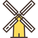 mill, Farm, buildings, wind, Blades Icon