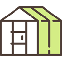 buildings, Plants, sun, Sunny, gardening, Greenhouse, plant DarkSlateGray icon