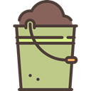 Bucket, Container, Tools And Utensils, pail, Farm Tan icon