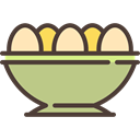 eggs, Basket, nutrition, organic, egg, food Tan icon