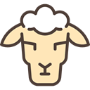 Farm, Farming, Sheep, Animal, Sheeps, Animals, Mammals Moccasin icon