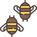 Bee, Bees, insect, Animal Kingdom, Animals, fly Black icon
