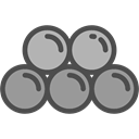 spherical, Projectile, weapons, Round Shot, Cannon DarkGray icon