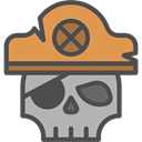 pirate, skull, death, Piracy DarkSlateGray icon