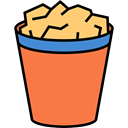 remove, delete, waste, Basket, paper, Bin Coral icon
