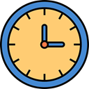 Tools And Utensils, Clock, waiting, time, hour Khaki icon