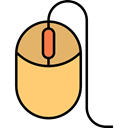 Mouse, clicker, electronic, computing, Multimedia, Technological, computer mouse, technology Black icon