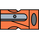 tool, School Material, sharpen, Tools And Utensils, pencil, Sharpener Coral icon