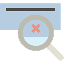 Error, magnifying glass, Loupe, search, Multimedia LightSteelBlue icon