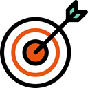 Aim, targeting, Targets, darts, focus, sports, bullseye Black icon