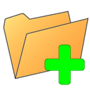 Folder, plus SandyBrown icon