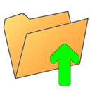 arrow up, Up, Folder, Arrow SandyBrown icon