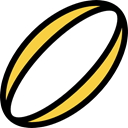 Rugby, Sports Ball, sports, Sportive Black icon