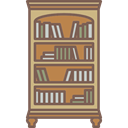Elegant, Antique, furniture, Library, Bookcase DimGray icon